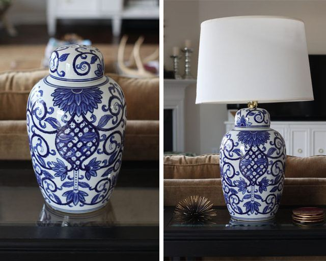 How to Turn a Ginger Jar Into a Lamp | Ceramic vase, Jar lamp and ...