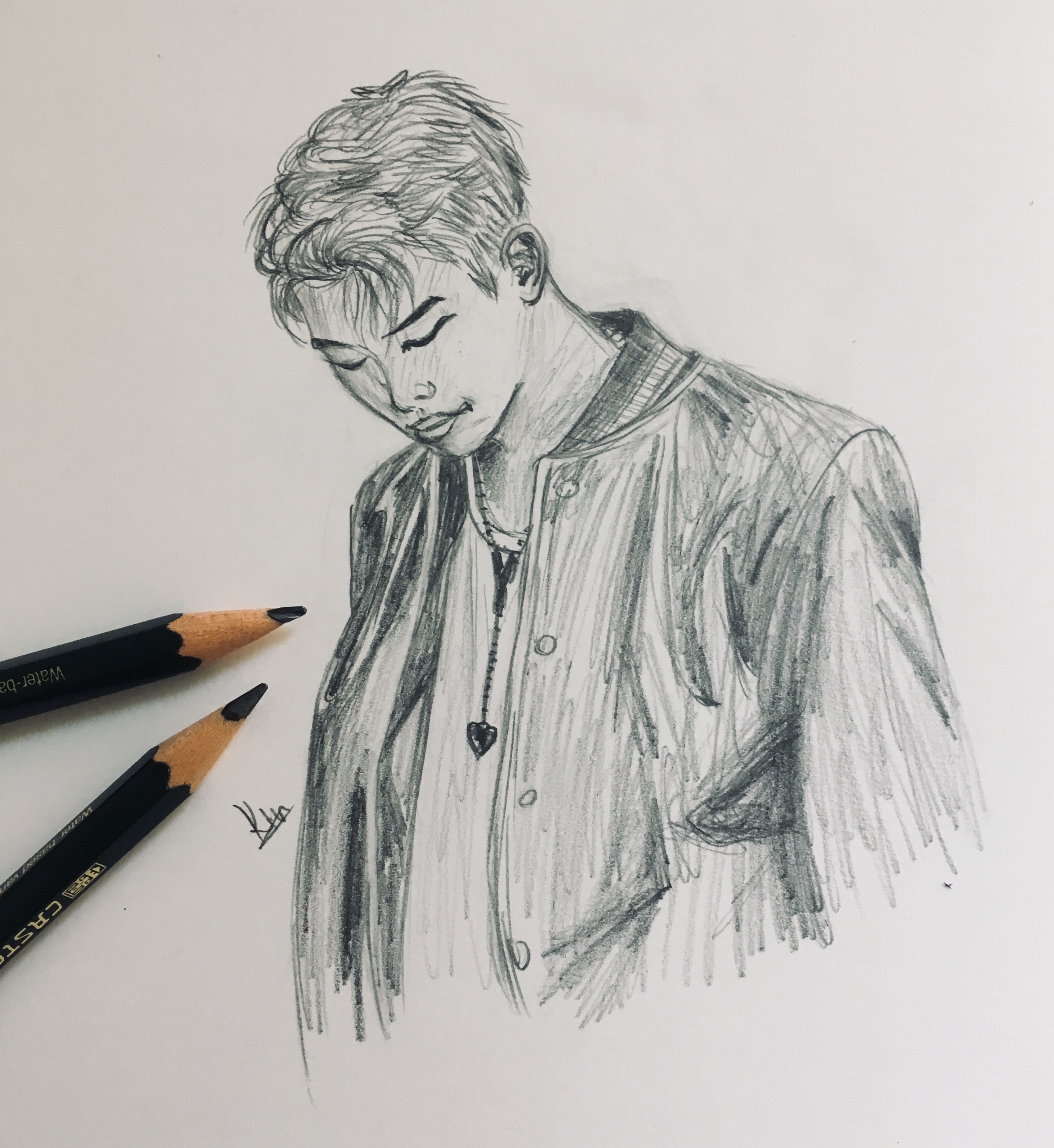 Quick Sketch Of A Kpop Idol