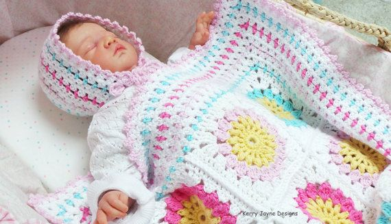 Granny Square Baby Blanket Pattern Cotton Yarn Blanket Pattern