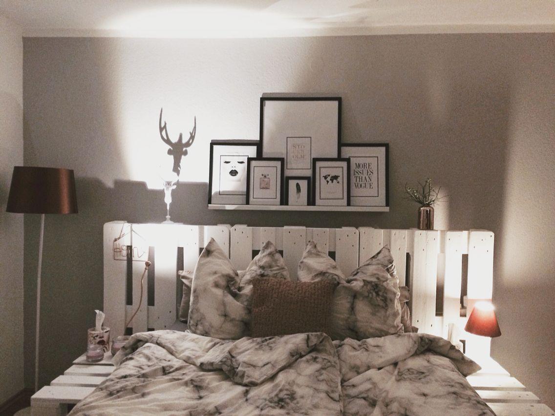 palettenbett weiß | palettenbett | pinterest | palettenbett