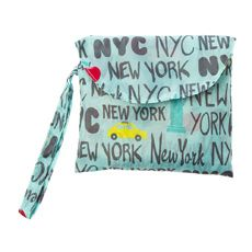 Turquoise Fold Away New York City Tote