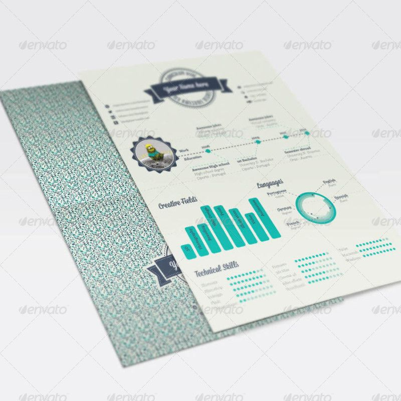 geometric infographic resume cv maker infographic creator - resume template creator