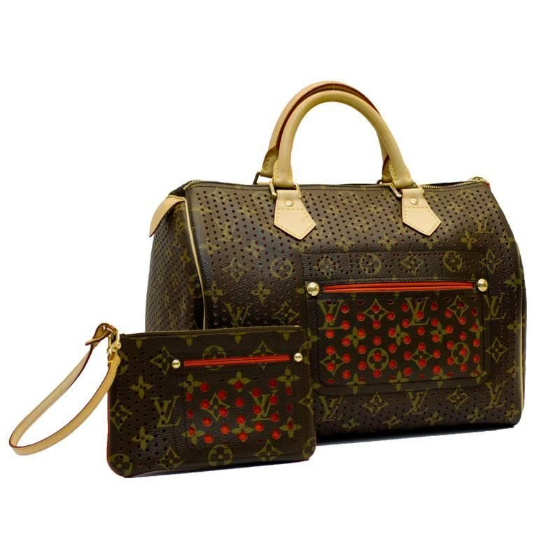 f18845470e20 2006 Special Edition Louis Vuitton Perforated Speedy Bag