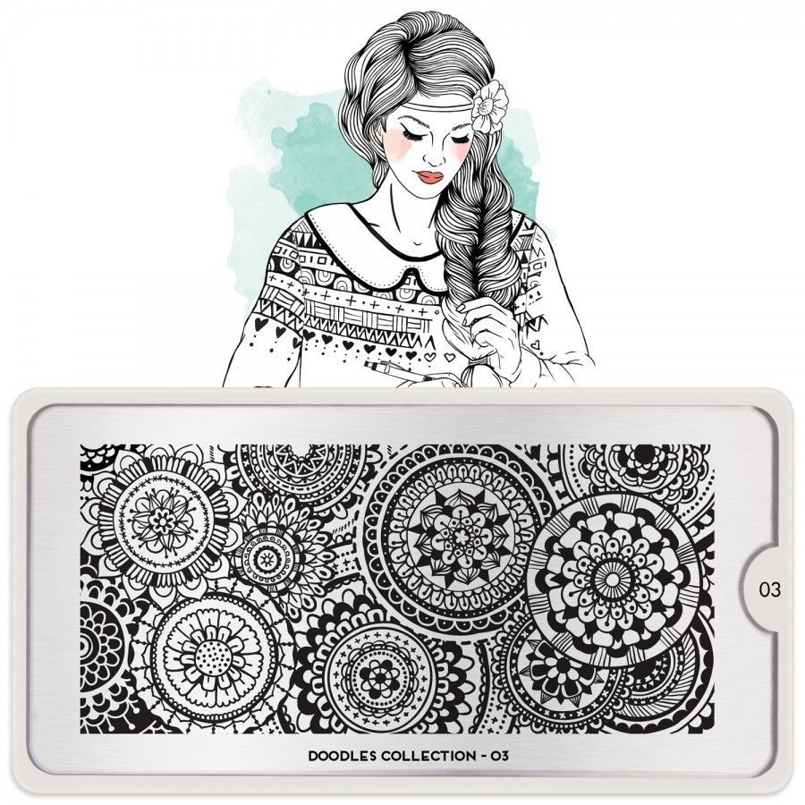 MoYou London Stamping Schablone *Doodles Collection 3* 03 Kreis ...