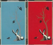 VINTAGE SWAP PLAYING CARDS RABBITS WITH TREE