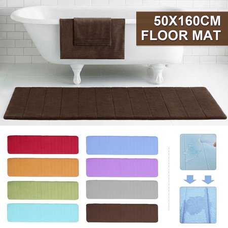 Memory Foam Non Slip Back Bathroom Floor Mat Pad Bath Shower Cushion Rug Carpet