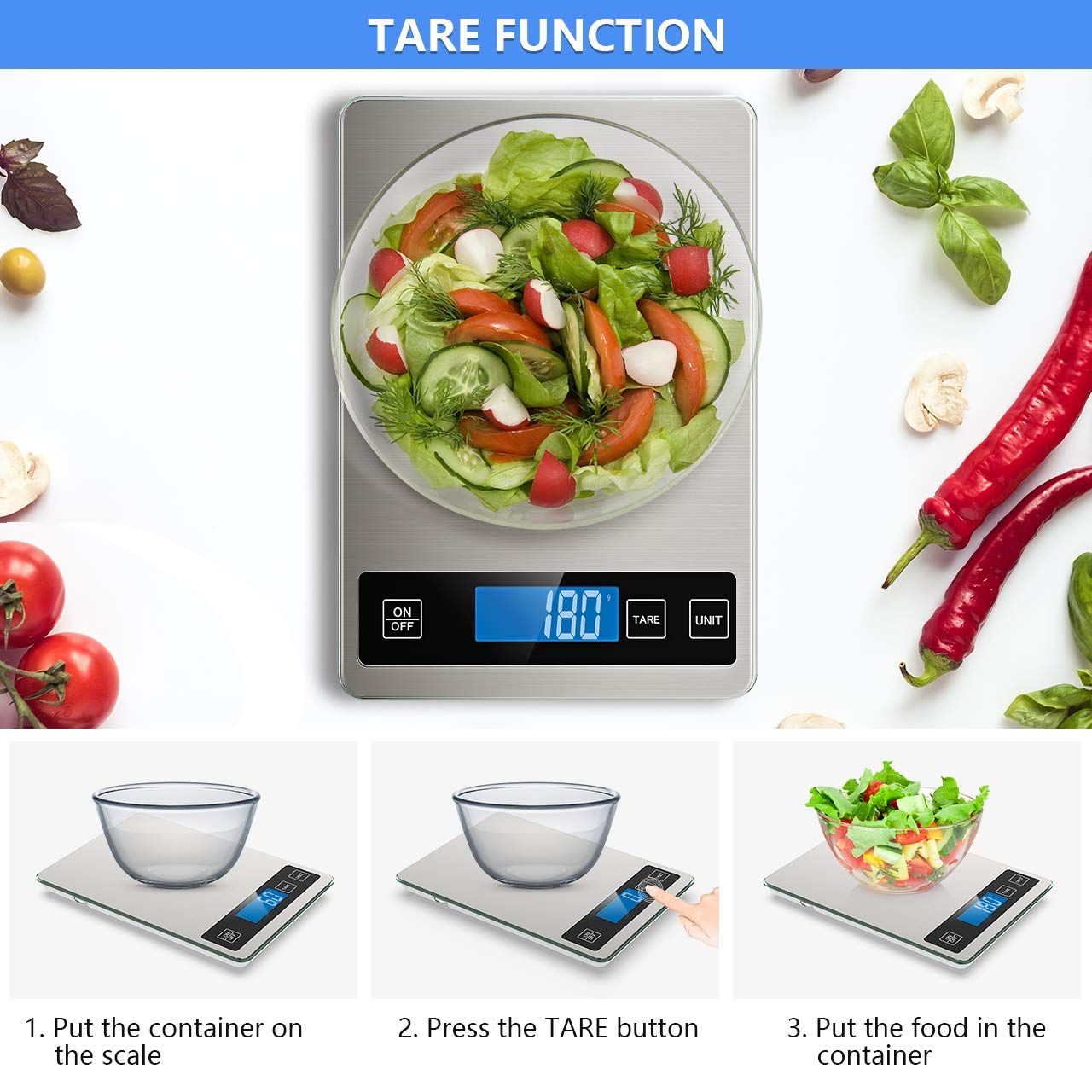 Nicewell food scale 22lb digital kitchen