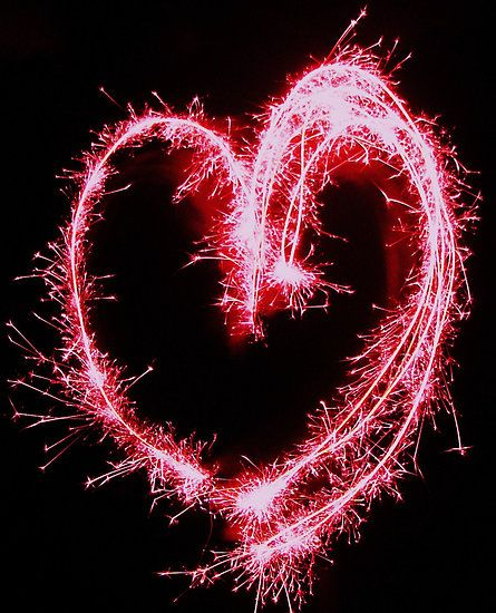 love on fire! ❤ sparkling heart