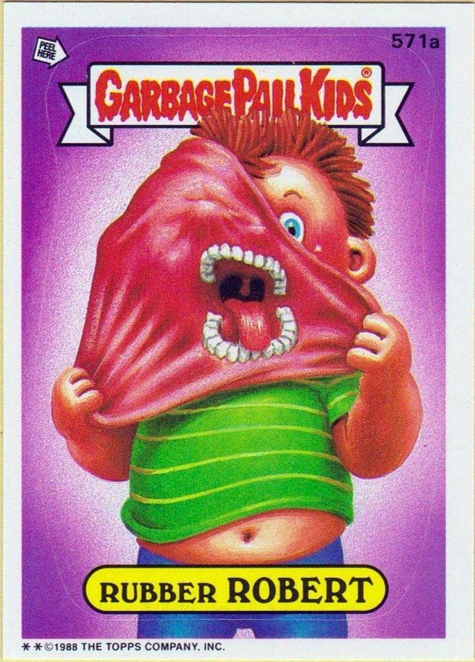 Rubber Robert Garbage Pail Kids Garbage Pail Kids Cards Pail