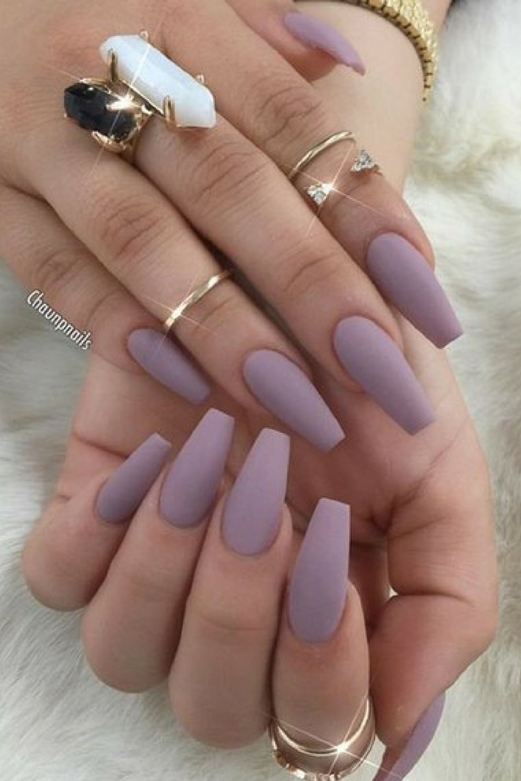 Different Types Of Nail Shapes Foodfestivalle Cute Acrylic Nails Matte Nails Design Solid Color Nails