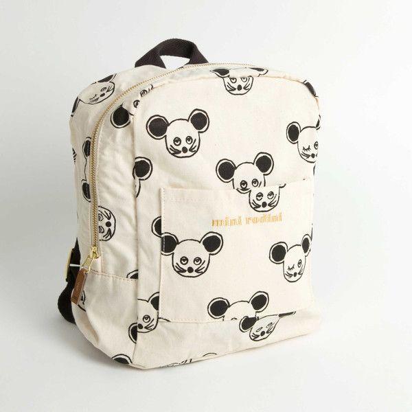 Mini Rodini Mouse Backpack Black