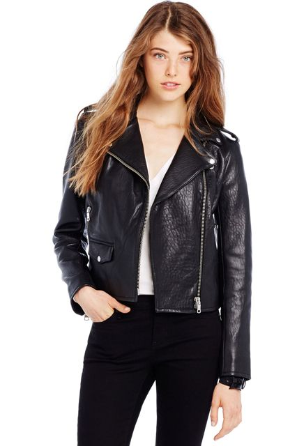 25 Black Leather Jackets For Instant Street Cred #refinery29  http://www.refinery29.com/best-leather-jackets#slide5
