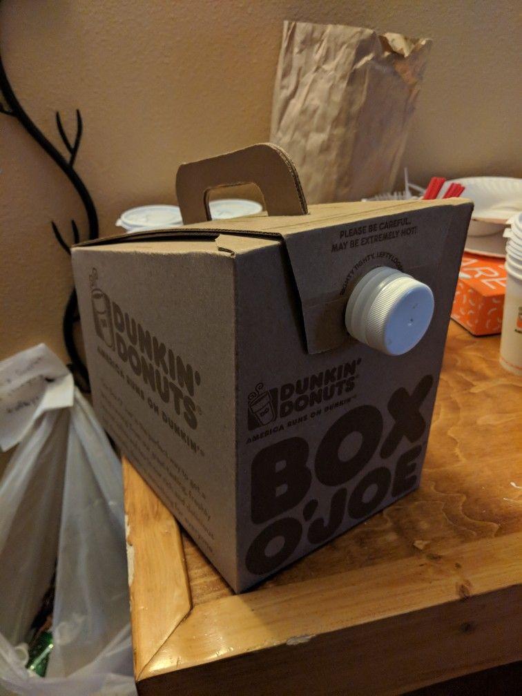Dunkin Donuts Box O Joe Donut Box Dunkin Dunkin Donuts