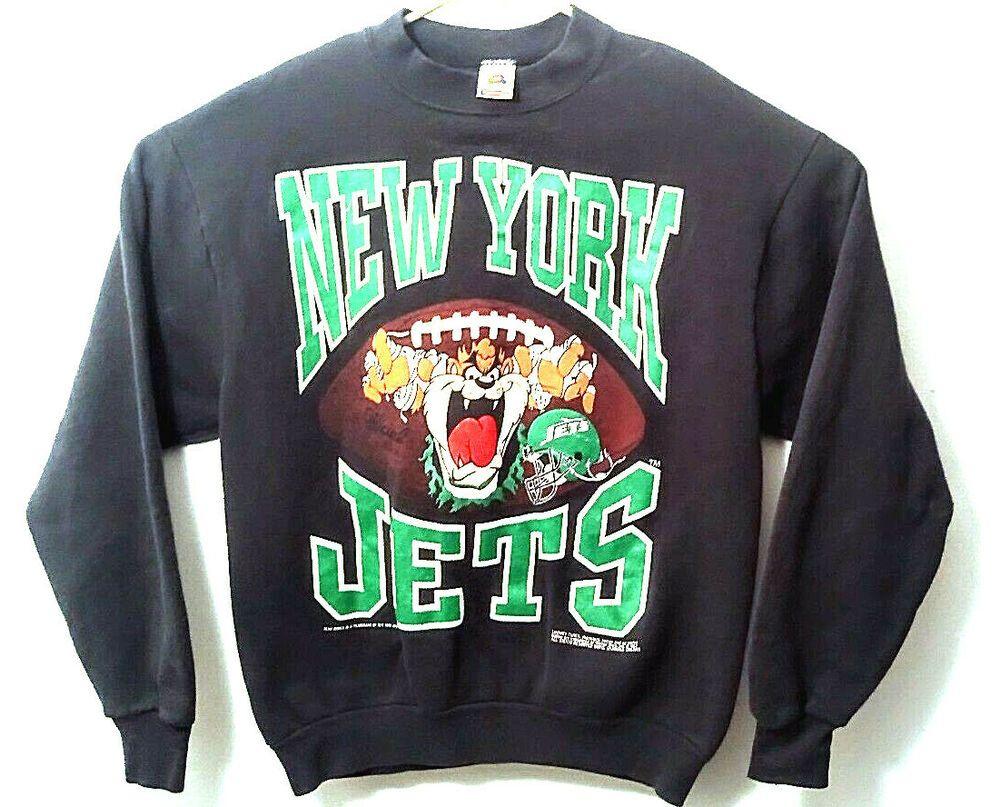 fdd6c99a Vtg 90s NY New York Jets Tazmanian Devil NFL Sweatshirt Mens Large ...