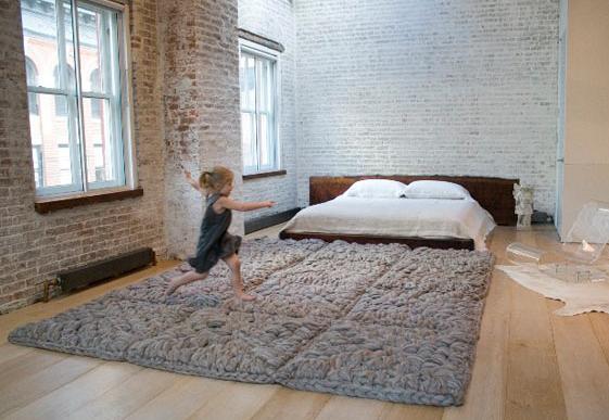 Giant crochet rug