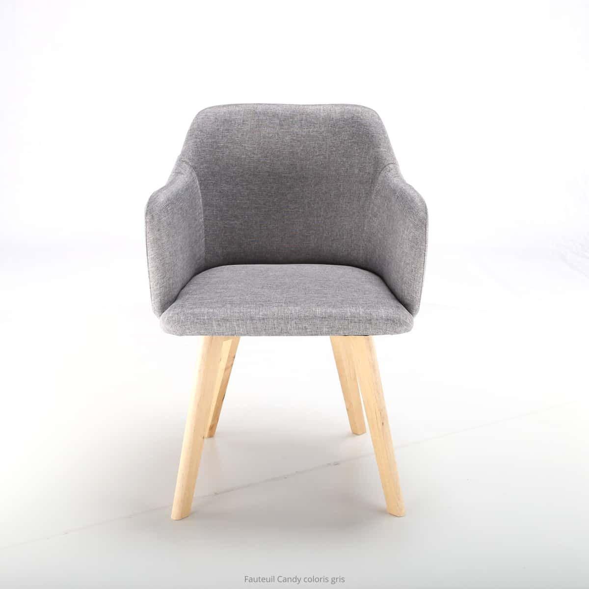 Chaise style scandinave Candy Tissu Gris | Chaise style