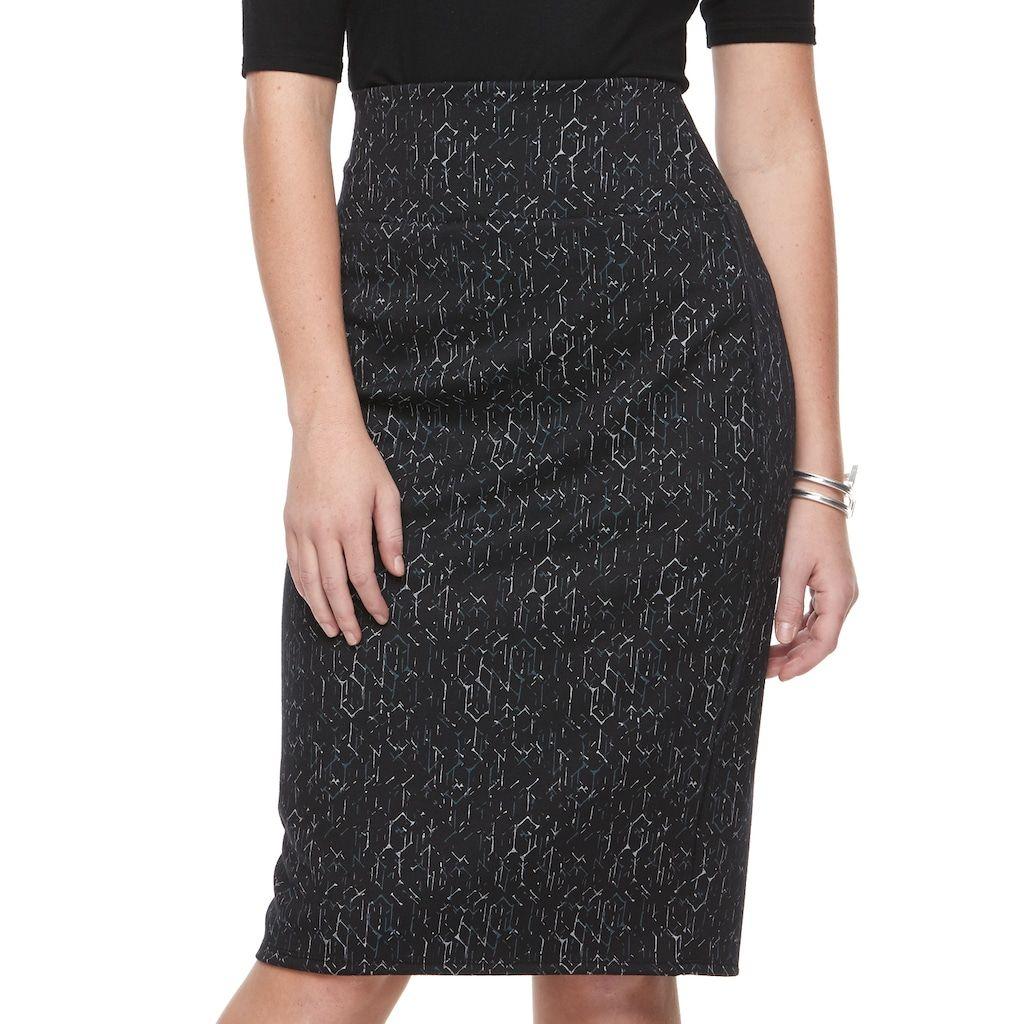 3355b1d107 Women's Apt. 9® Tummy Control Pull-On Pencil Skirt, Size: Medium, Black