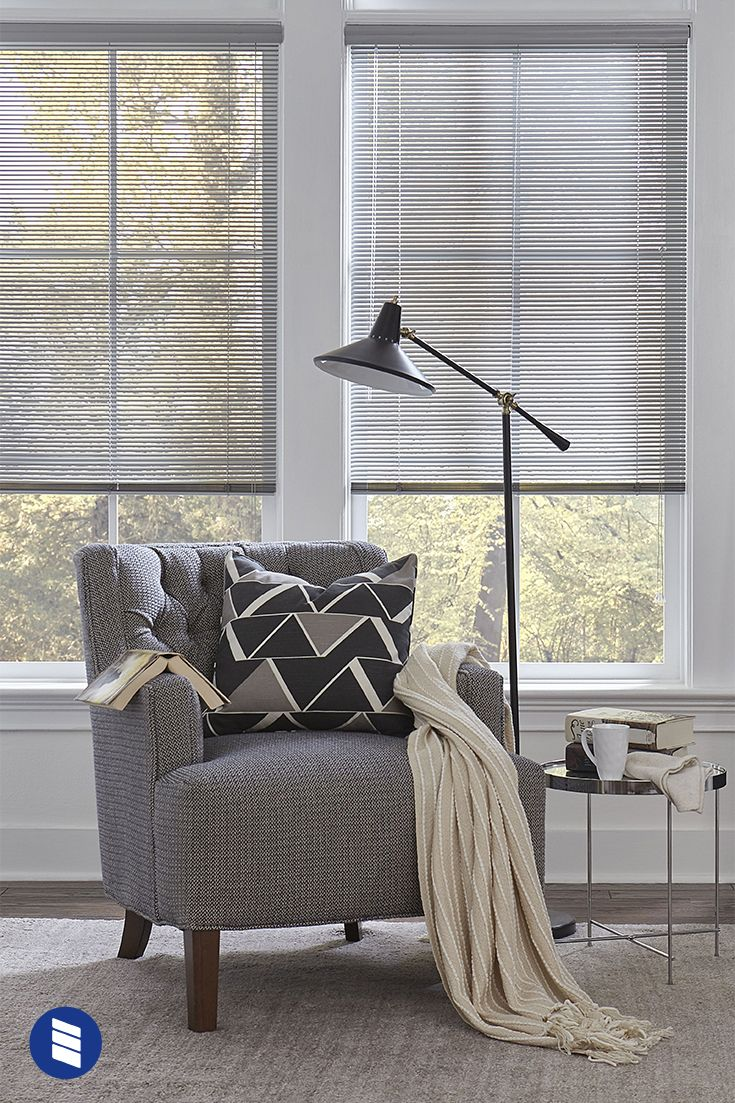 1 2 Mini Blinds Are Perfect For Small Windows Or French Doors Living Room Blinds Living Room Windows Blinds For Windows Living Rooms