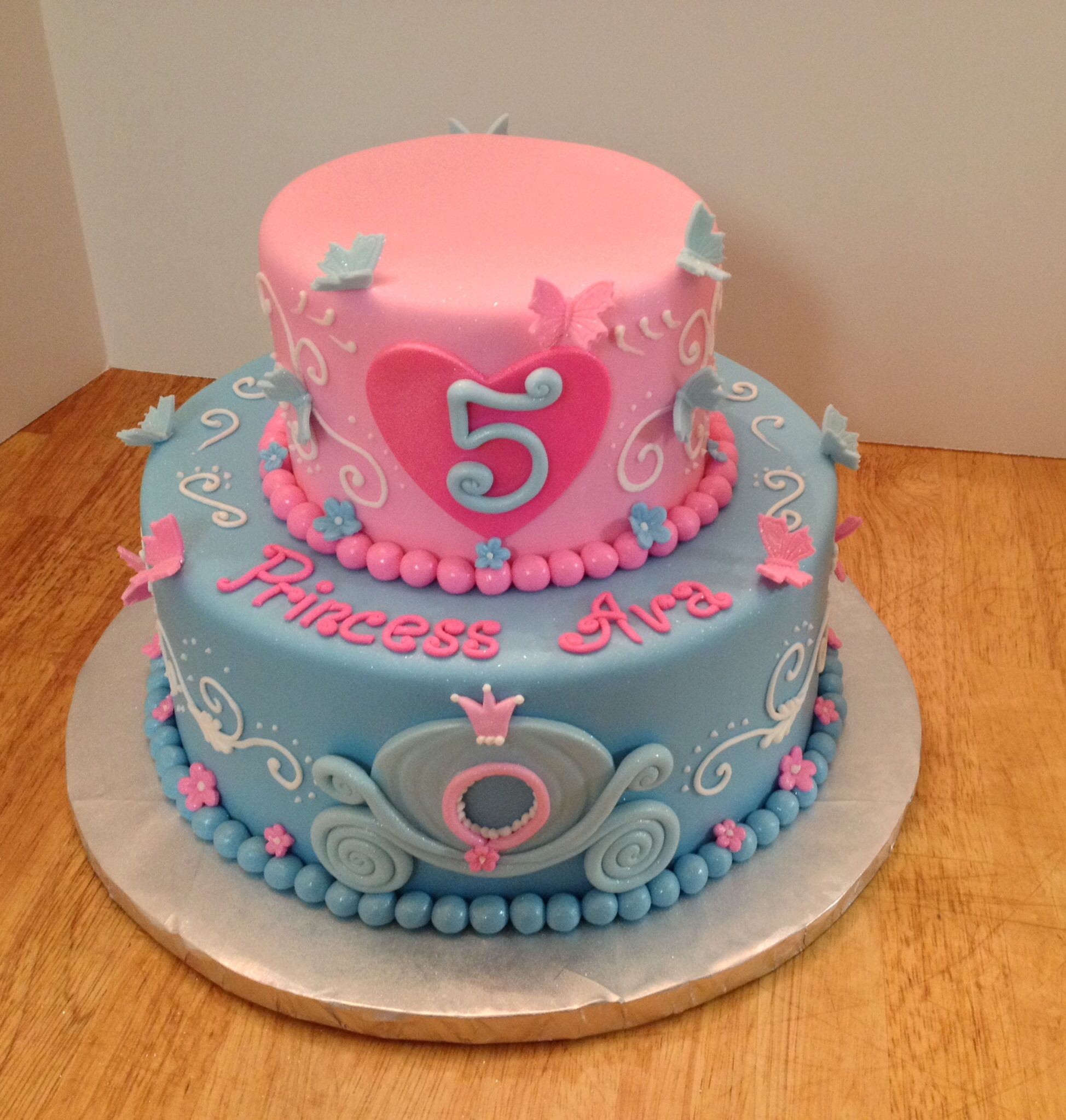 Princess birthday cake Pinteres