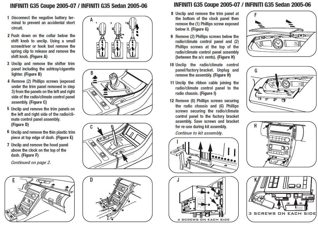 Infiniti G35 Coupeinstallation Instructions