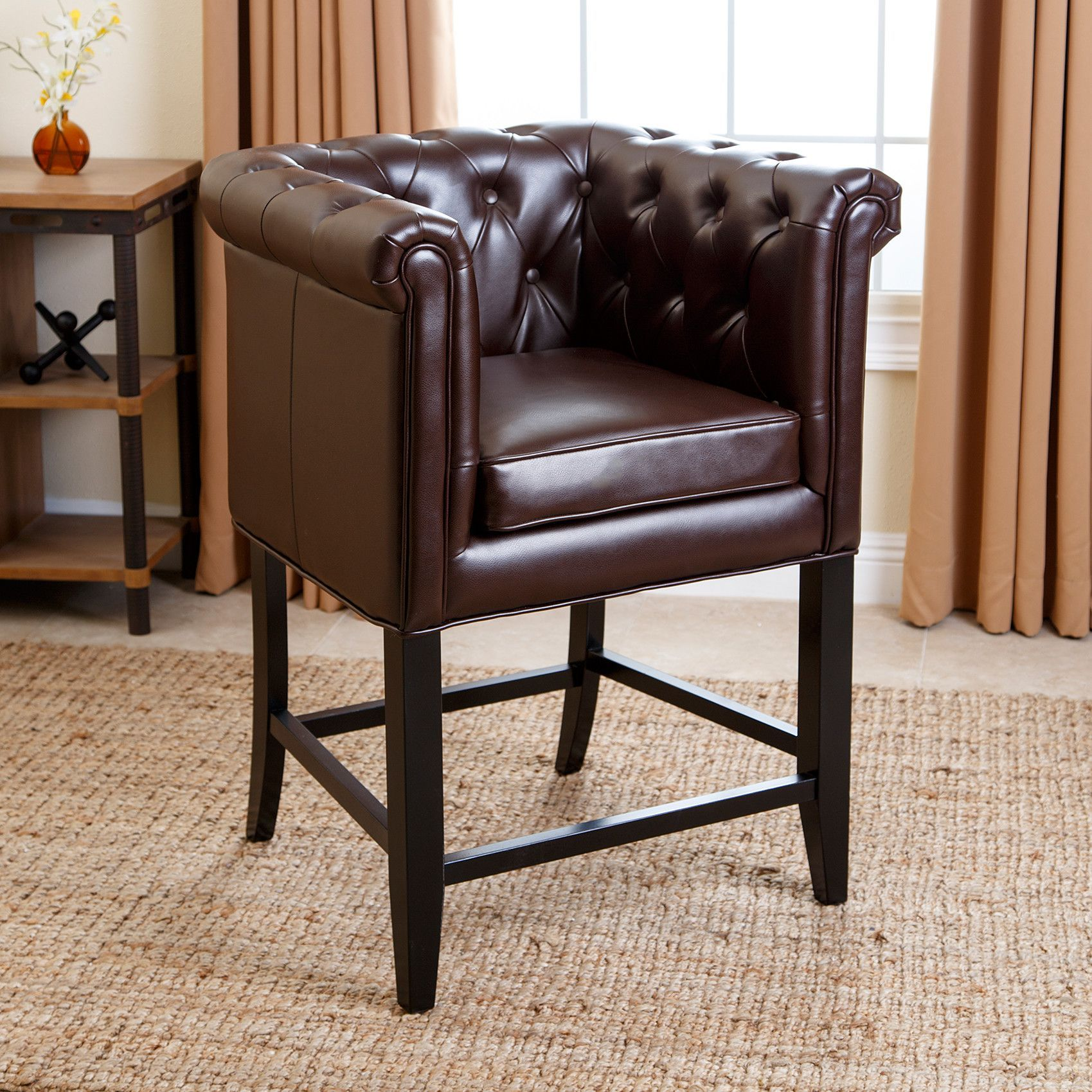 Chesterfield Bar Stool With Cushion