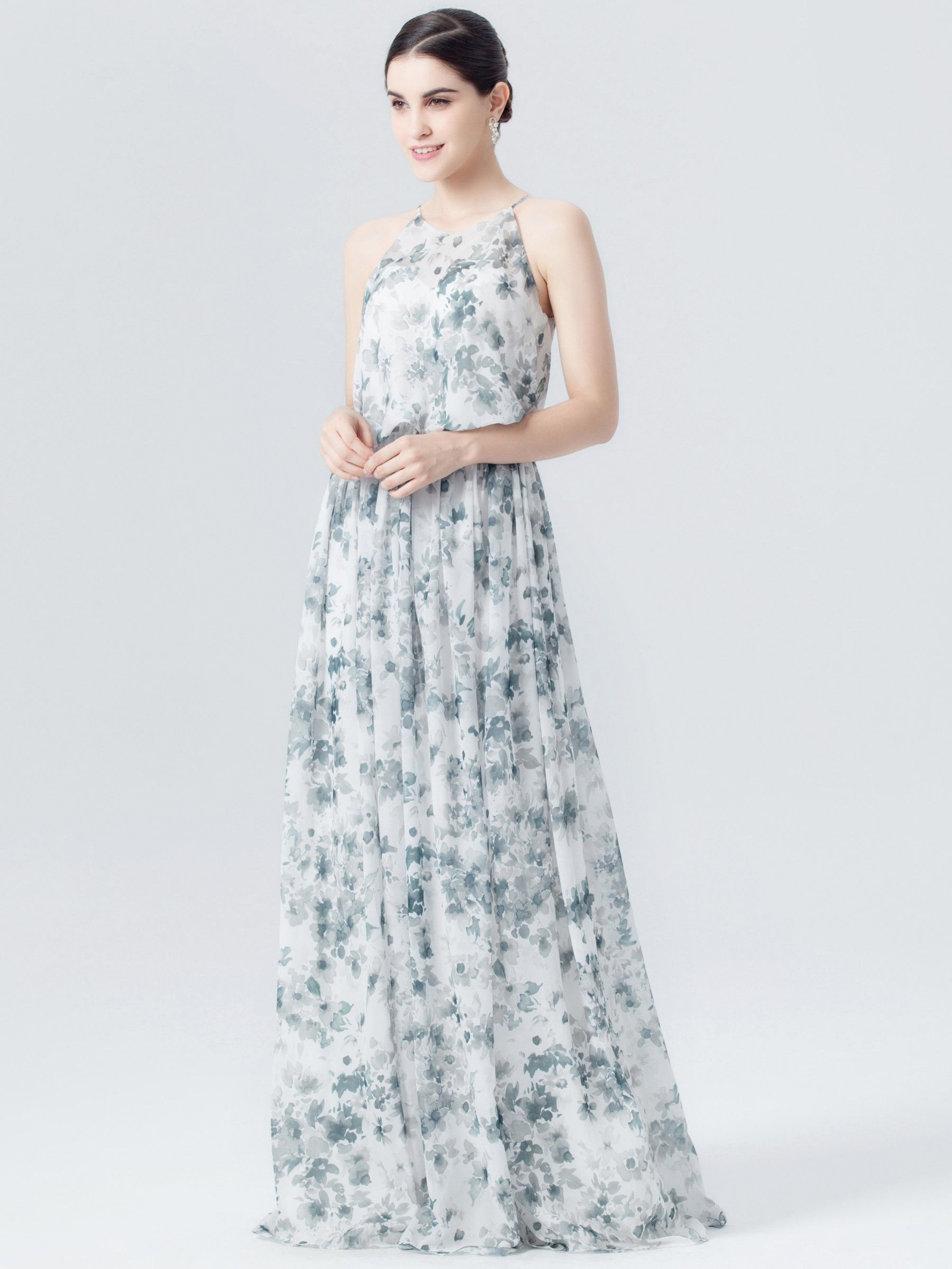 Floral print wedding dresses  Maxi Teal Floral Print Dress  Plus and Petite sizes available