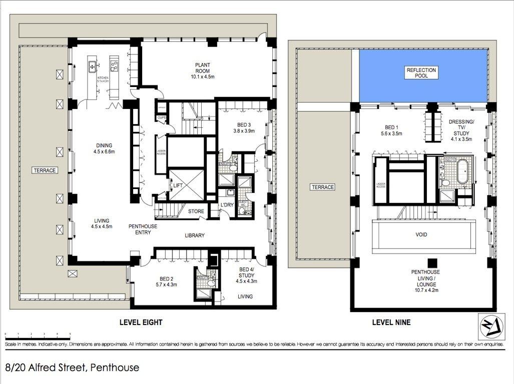 Harbour Bridge penthouse floor plans | Penthouses | Pinterest ...