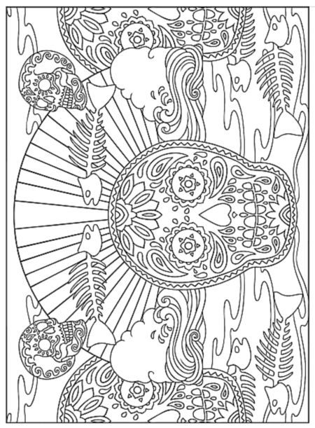 Image result for day of the dead coloring pages Day of the Dead - fresh day of the dead mandala coloring pages