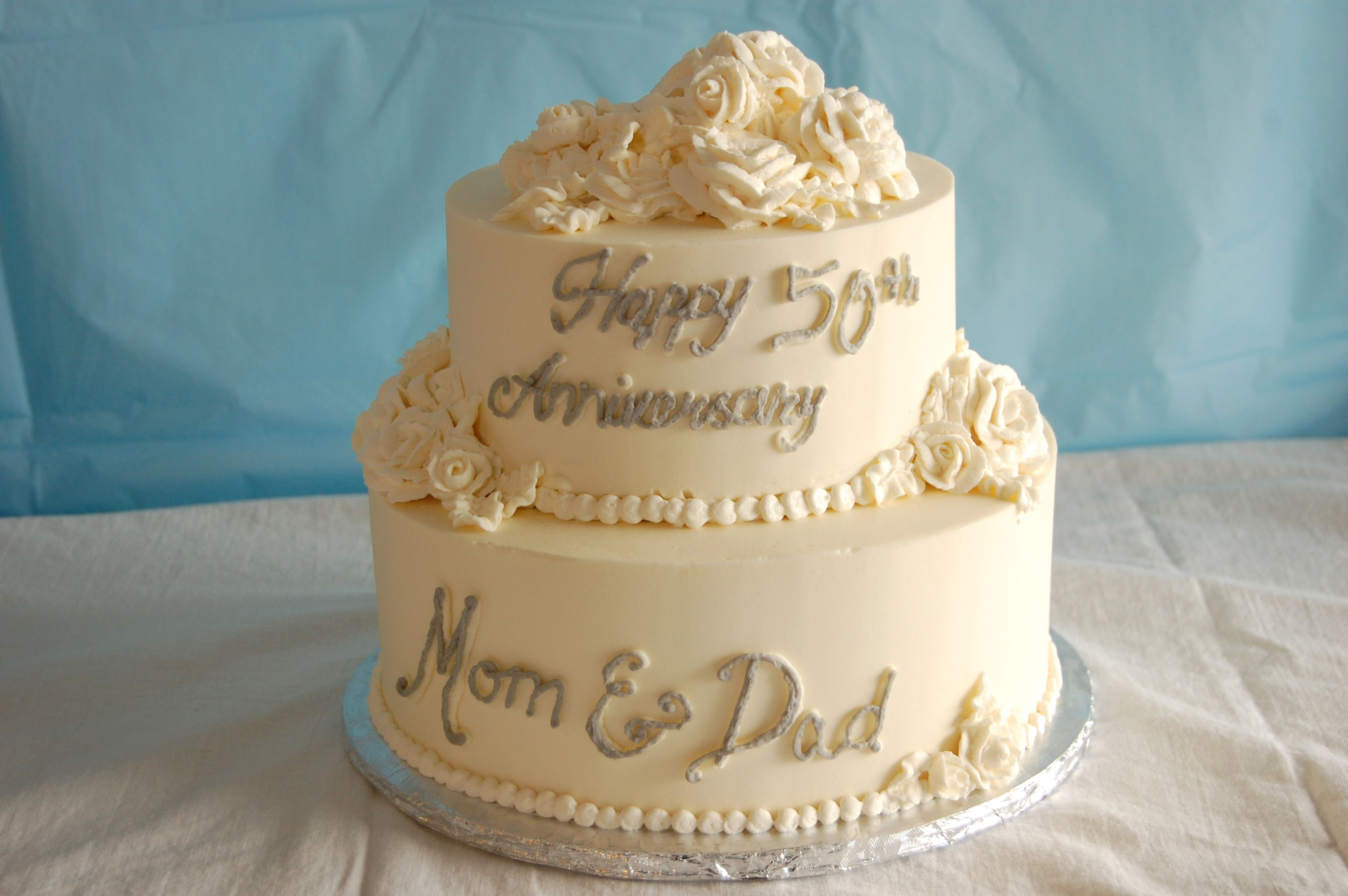 Simple 50th anniversary cake Wedding Cakes Pinterest