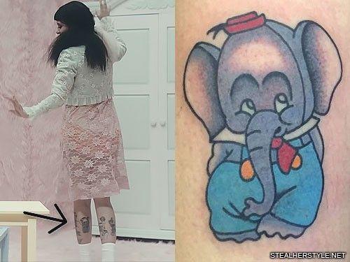 Melanie Martinez Elephant Leg Tattoo Melanie Martinez Melanie Easy Drawings