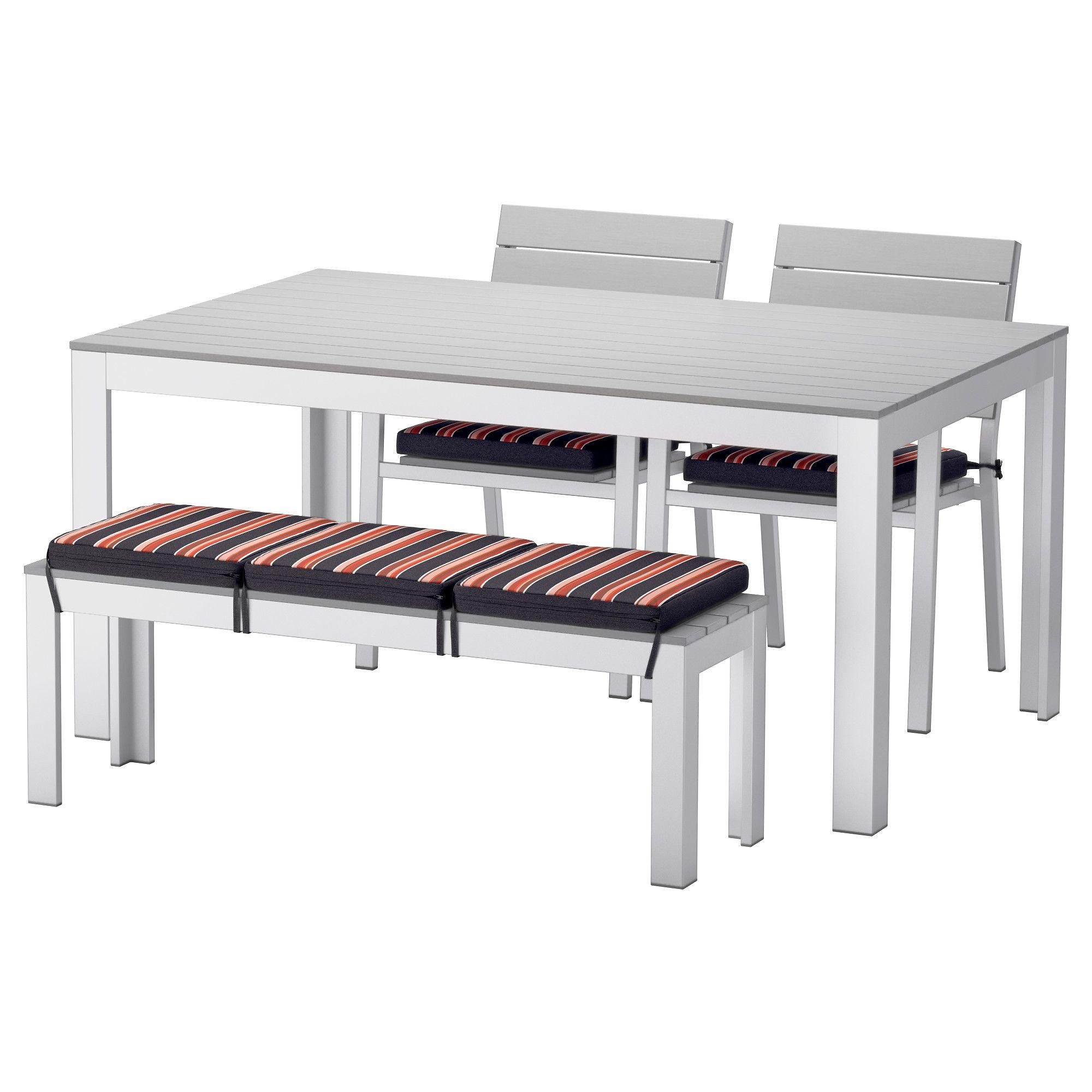FALSTER, Tisch+2 Stühle+Bank/außen, grau, schwarz Jetzt bestellen ...