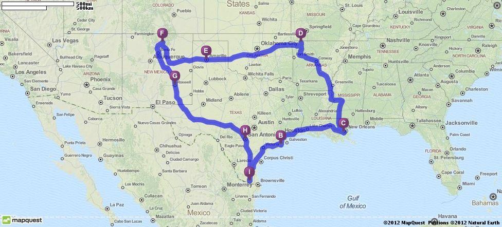 Driving Directions from Edinburg Texas to Edinburg Texas