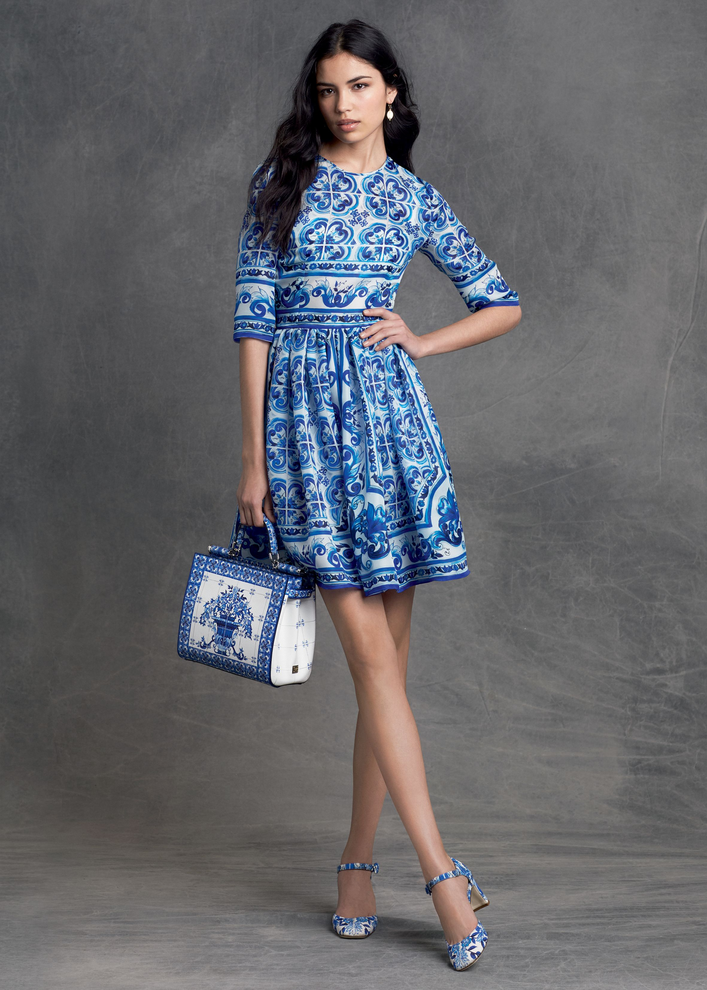 Dolce & Gabbana | Pre-Fall 2015 - LOVE the blue and white ...
