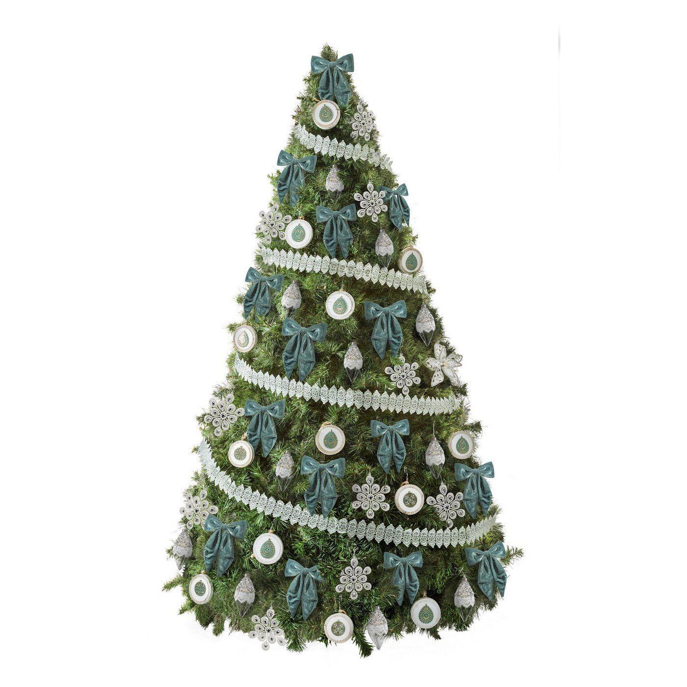 Zestaw Choinkowy Nr 55 Wyjatkowy Zestaw Ozdob Choinkowych W Tonacji Bialo Turkusowej Z Wiodacym Motywem Drewnianych Medal Holiday Decor Christmas Tree Holiday
