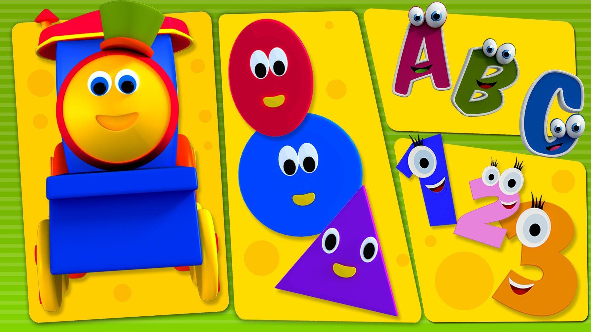 Bob The Train Bob And Preschool Phonics Song Abc Song Numbers Song Shapes Song Colors Song Preschool Phonics Phonics Song Kids Nursery Rhymes