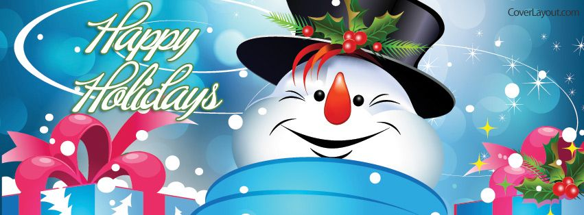 Happy Holidays Snowman Facebook Cover coverlayout.com ...