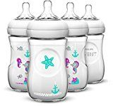 Philips AVENT 4 Piece Natural Baby Bottle with Seahorse Design