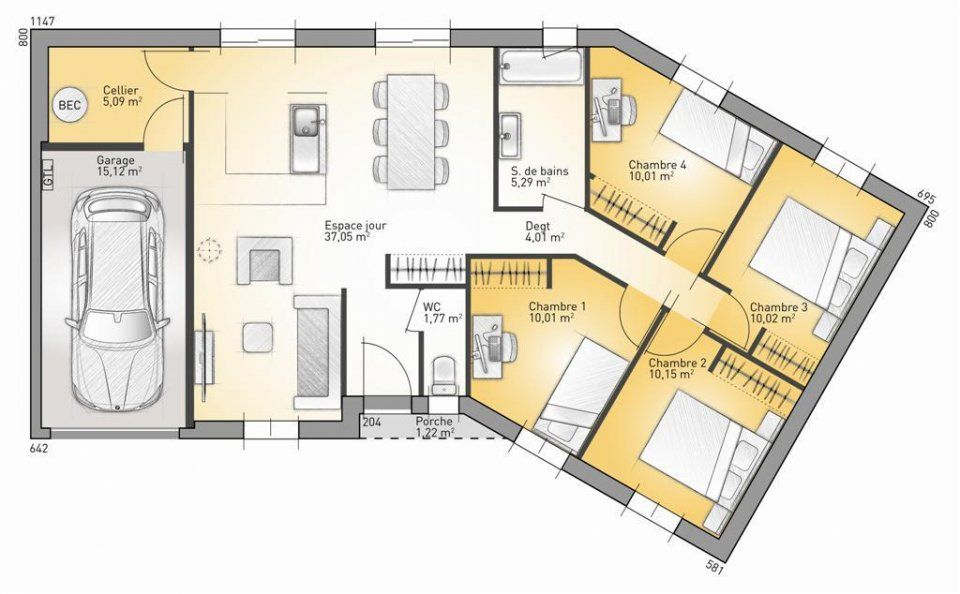 17 best images about plan maison on Pinterest Dressing, Garages - Plan De Maison Moderne