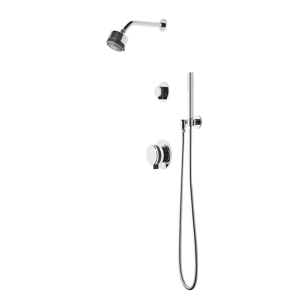Discover Decibel Pressure Balance Shower Package with 3 1/4\