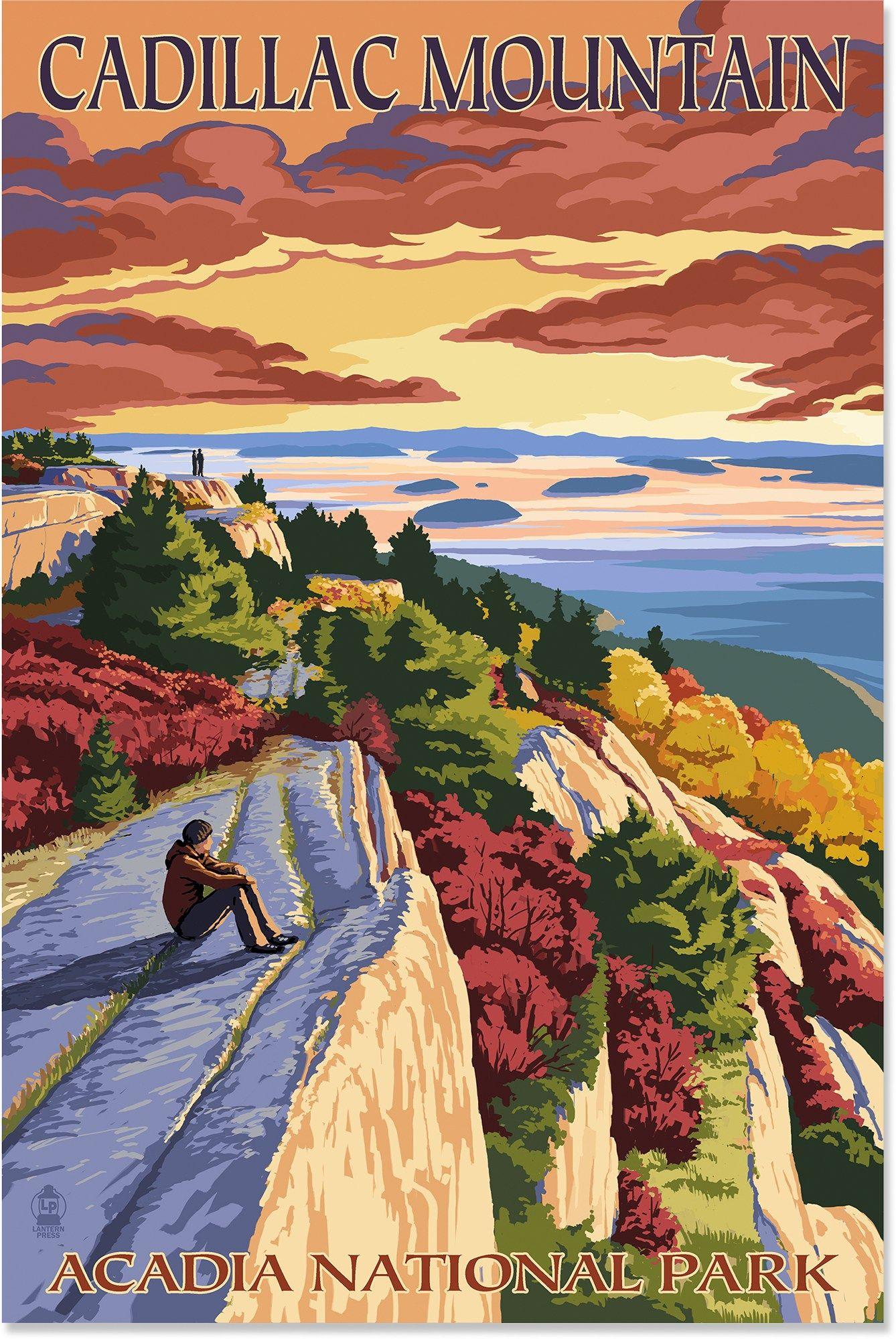 Color art printing anchorage - Lantern Press Acadia National Park Cadillac Mountain Art Print 12