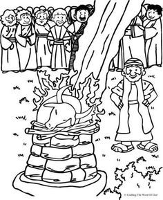love the content would prefer a more dignified elijah though elijah and the prophets of baal coloring page from crafting the word of god - Elijah Bible Story Coloring Pages