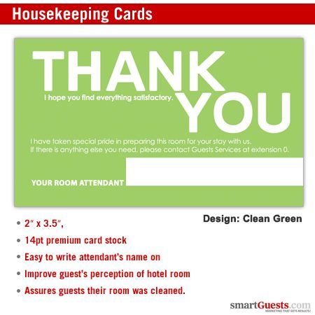 Housekeeping Cards Business Cards Size Housekeeping Business Card Size Green Cleaning