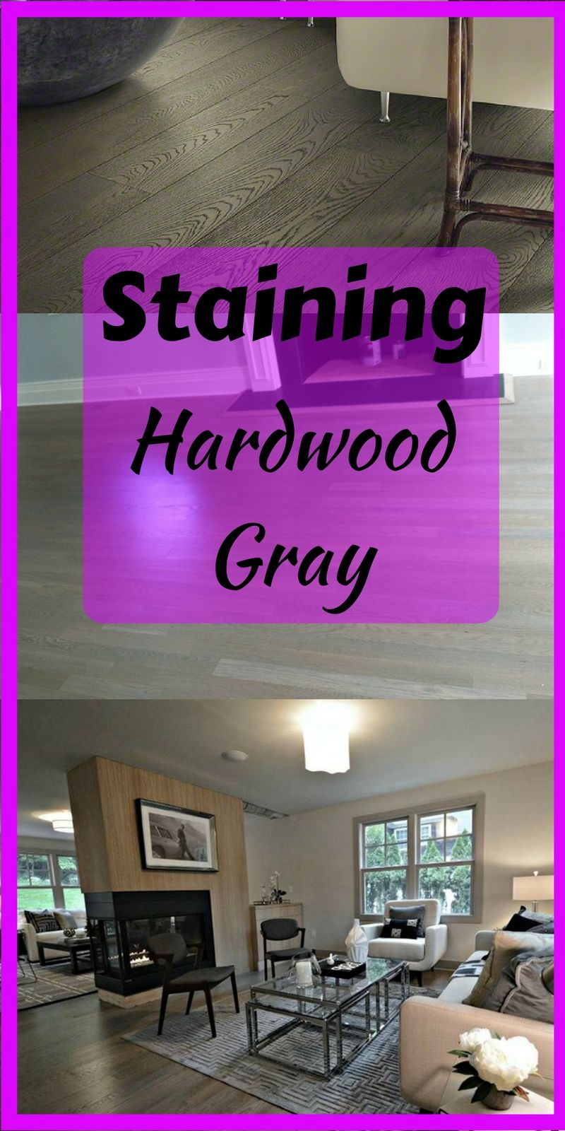 Staining hardwood flooring gray.  How to refinish and stain wood floors gray. #grayhardwood #graystain TheFlooringGirl.com #stainedwood