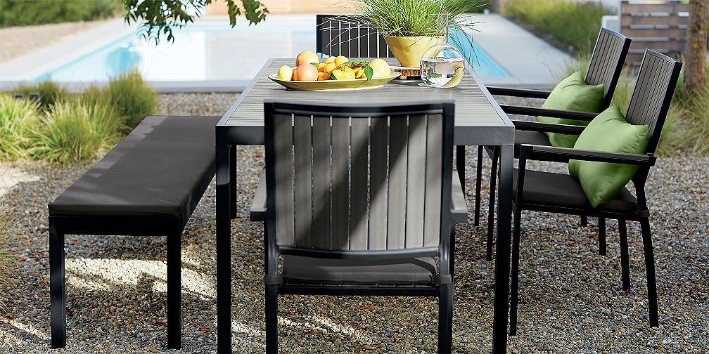 Outdoor Furniture Collections Dining And Lounge Crate And Barrel Outdoor Furniture Collections Patio Dining Furniture Outdoor Patio Space