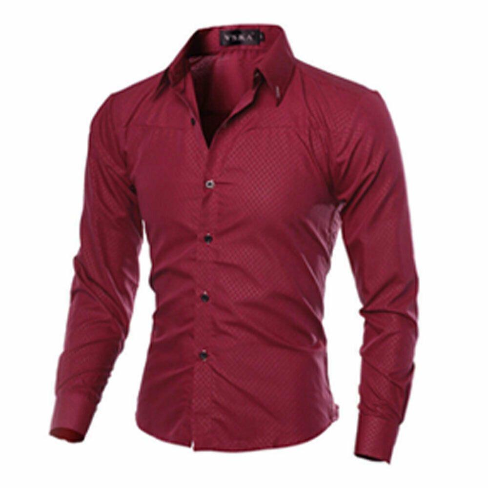 Ma Baby New Mens Luxury Casual Stylish Slim Fit Long Sleeve Casual Dress Shirts Walmart Com Mens Shirt Dress Casual Shirts For Men Long Sleeve Shirt Men [ 1000 x 1000 Pixel ]