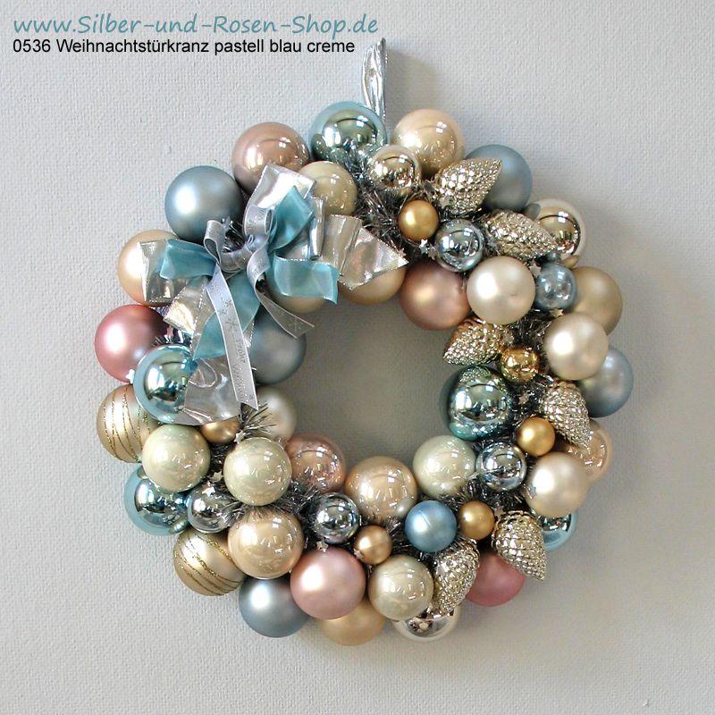 T rkranz weihnachten kugeln pastell blau gro amica 1 12 pinterest xmas crafts christmas - Weihnachtskugeln pastell ...