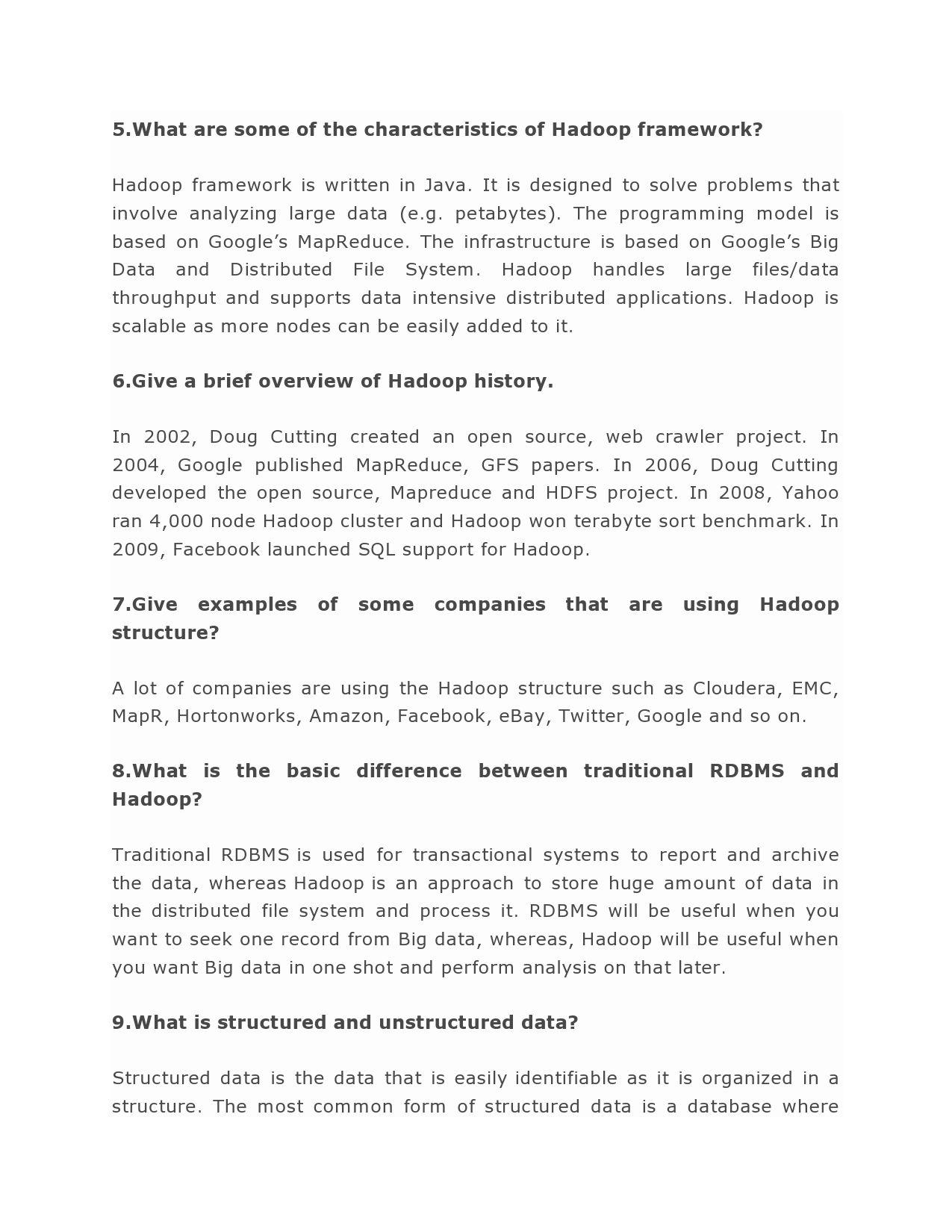 Pin by Hadoop Online Training on Hadoop Interview Questions