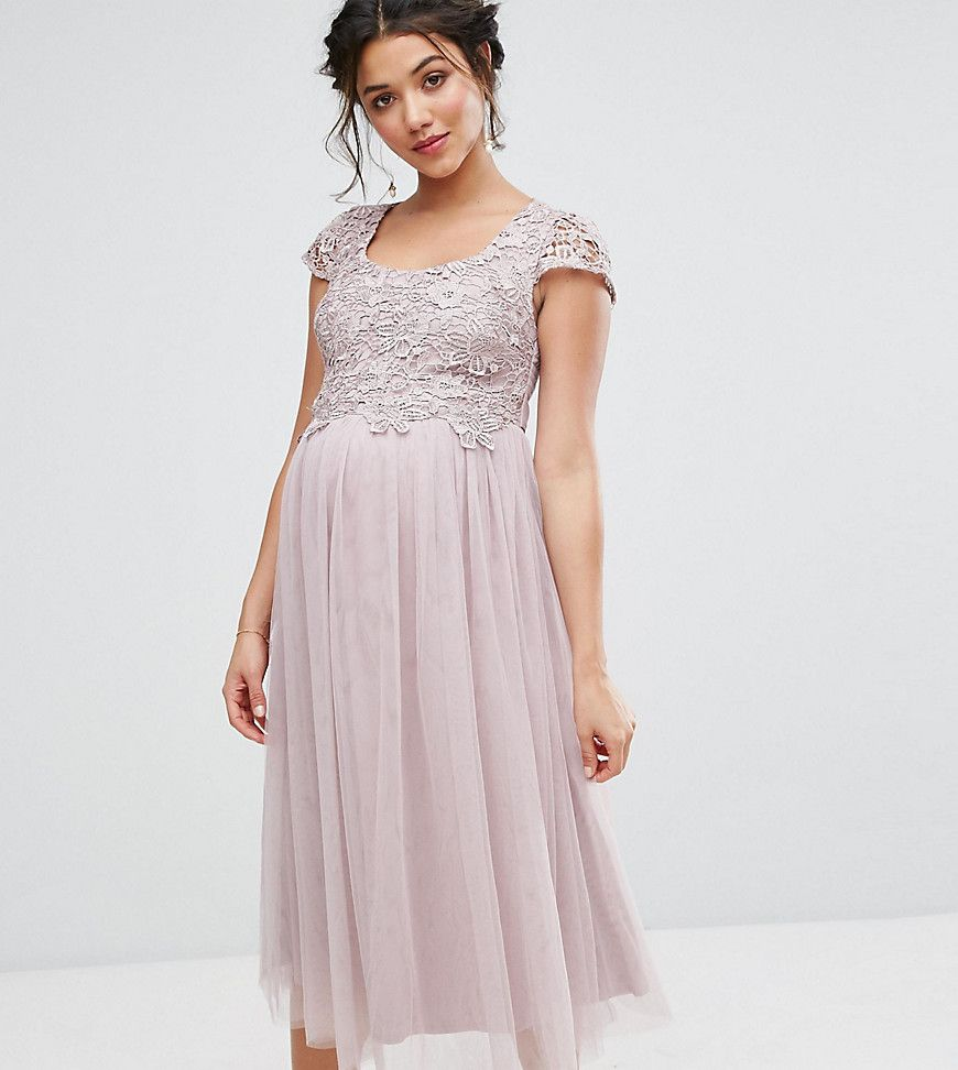Get this little mistress maternitys cocktail dress now click for shop little mistress maternity crochet bodice prom dress with tulle skirt at asos ombrellifo Image collections