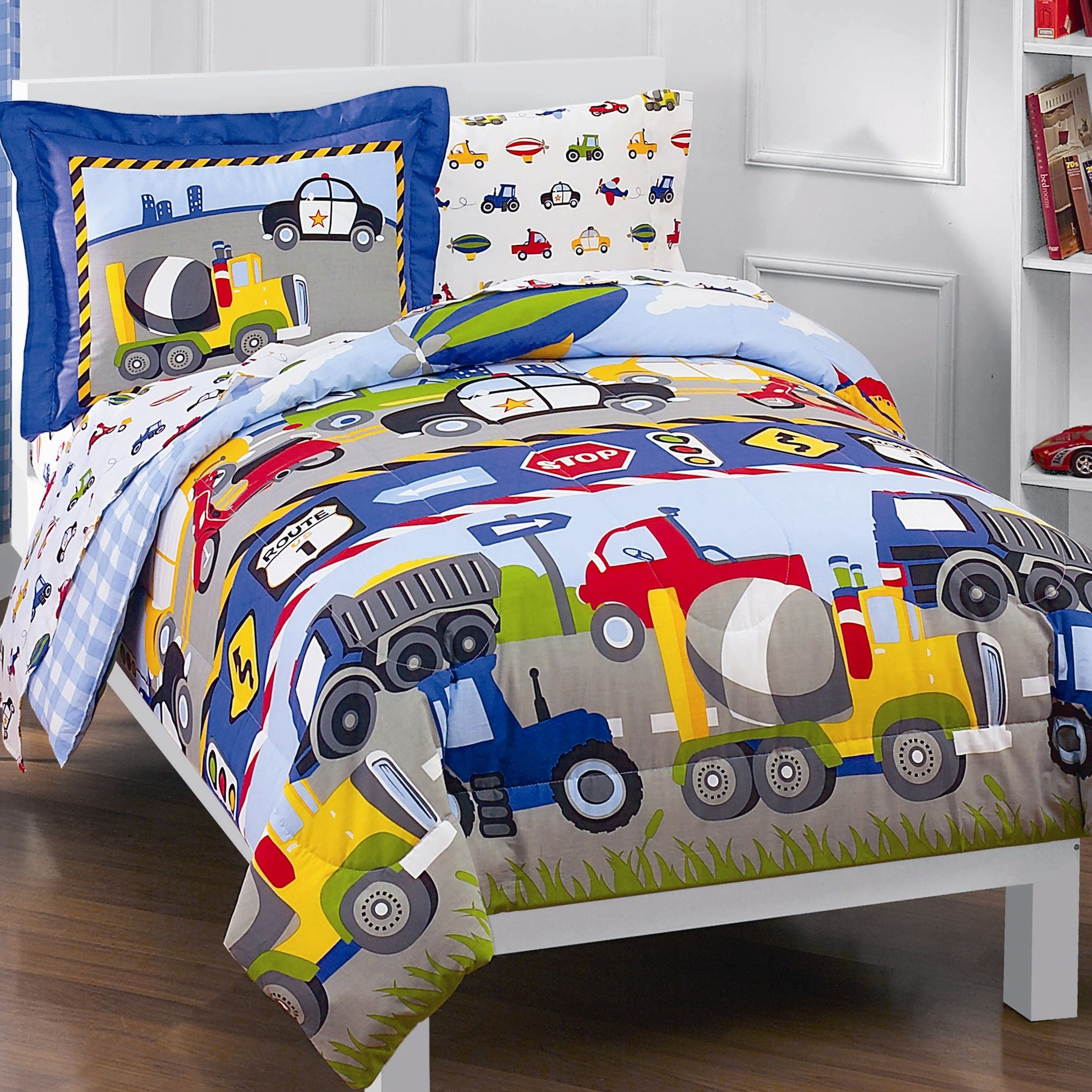 kaylie trans trucks 5 piece twin bed in a bag set twin beds