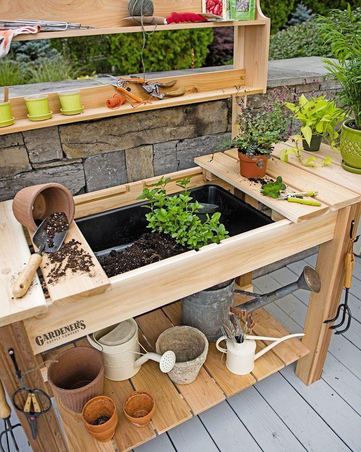 Potting Bench Cedar Potting Table with